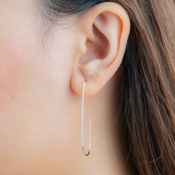 Jenner Geometric Hoop earring